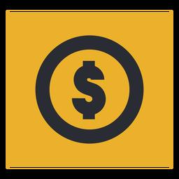 Signo de icono de signo de dólar de dinero