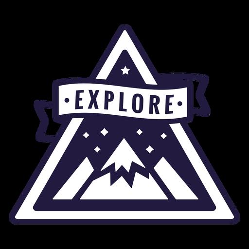 Mountain explore camping triangle badge