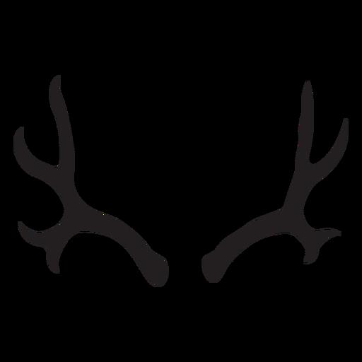 Silueta de asta de ciervo mulo