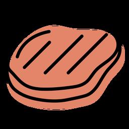 Icono de losa de comida de carne naranja