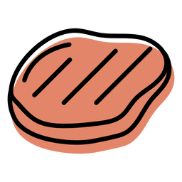 Orange meat food slab icon