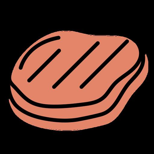 Orange meat food slab icon