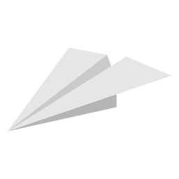 Paper airplane angled flat