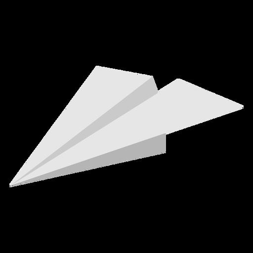 Paper airplane angled flat
