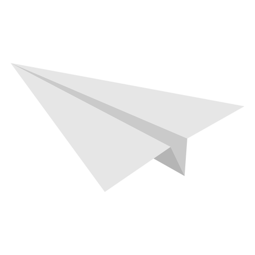 Avión de papel plano en ángulo