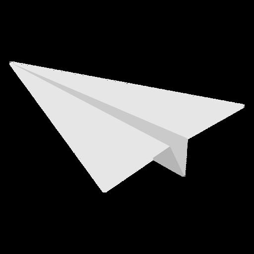 Paper airplane flat angled