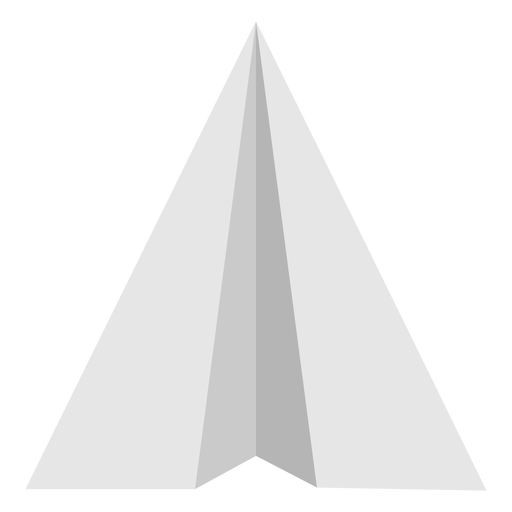 Paper airplane flat top view
