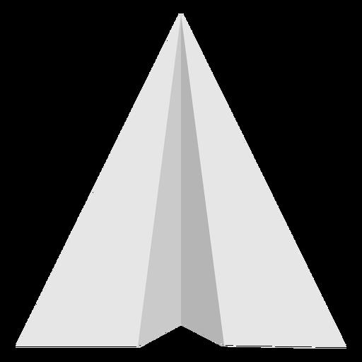 Vista superior plana de avión de papel