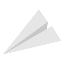 Paper airplane flat top angled