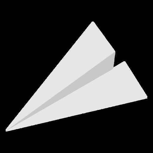 Avión de papel con parte superior plana en ángulo