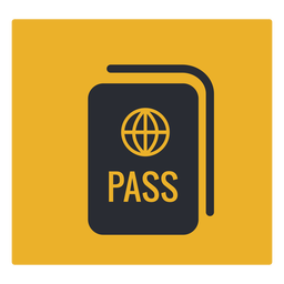 Passport icon sign