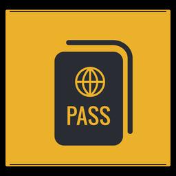 Signo de icono de pasaporte