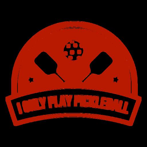Insignia de banner de paleta de pelota Pickleball