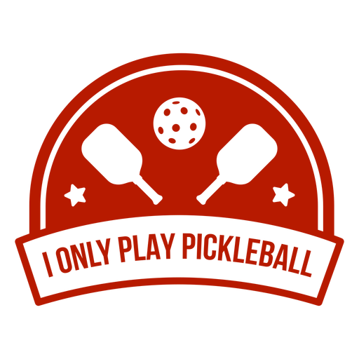 Pickleball ball paddle banner badge Transparent PNG