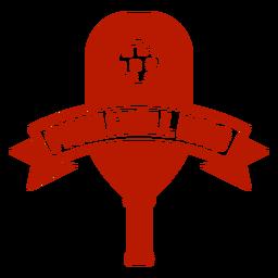 Emblema de paddle rei pickleball