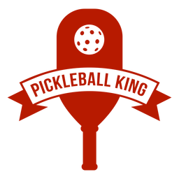 Pickleball king paddle badge
