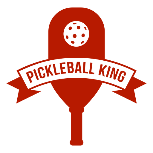 Pickleball king paddle badge Transparent PNG