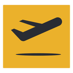 Plane departure icon sign
