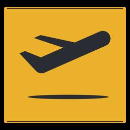 Signo de icono de salida de avión