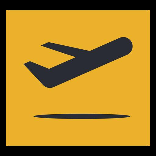 Plane departure icon sign