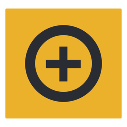 Plus sign circle icon sign