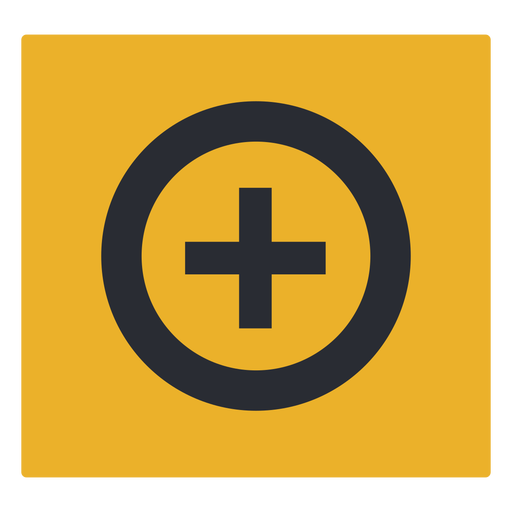 Plus sign circle icon sign