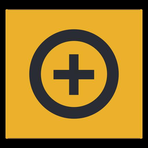 Signo más signo de icono de círculo