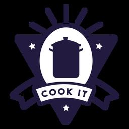 Olla cocinarlo triángulo insignia
