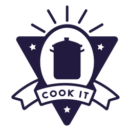 Pot cook it triangle badge