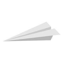 Profile paper airplane flat