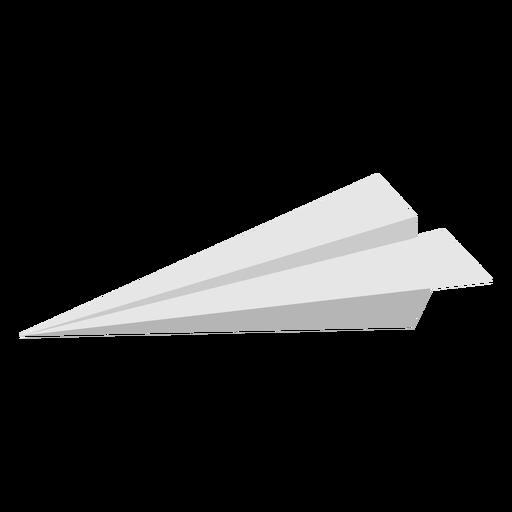 Avión de papel de perfil plano