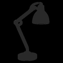 Lámpara de escritorio de lectura silueta