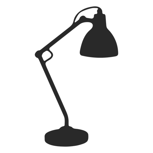 Reading desk lamp silhouette Transparent PNG