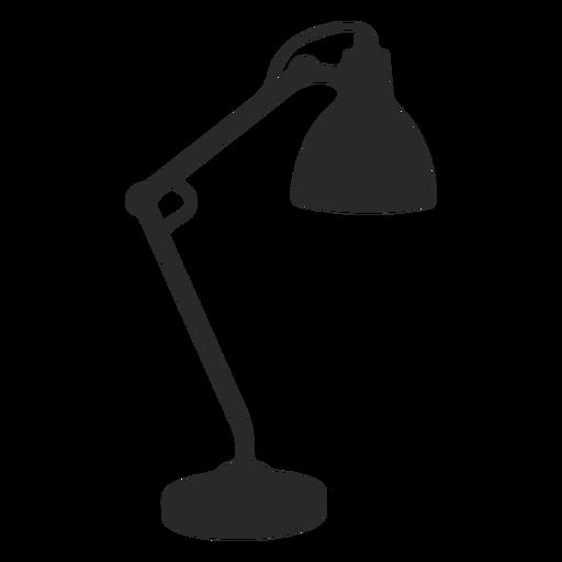 Reading desk lamp silhouette