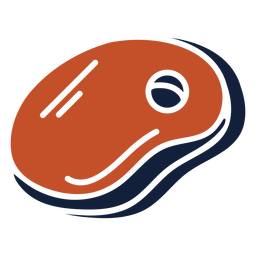 Ícone azul vermelho bife duotônico plana