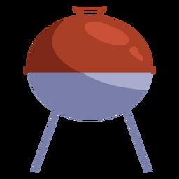 Perfil de parrilla gris rojo plano