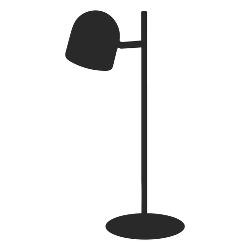 Round desk reading lamp silhouette
