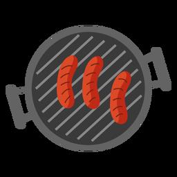 Salsicha grelha plana