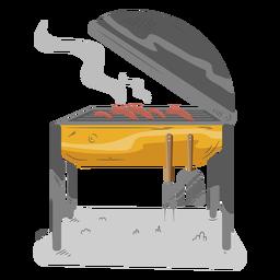 Salsicha cachorro-quente churrasqueira