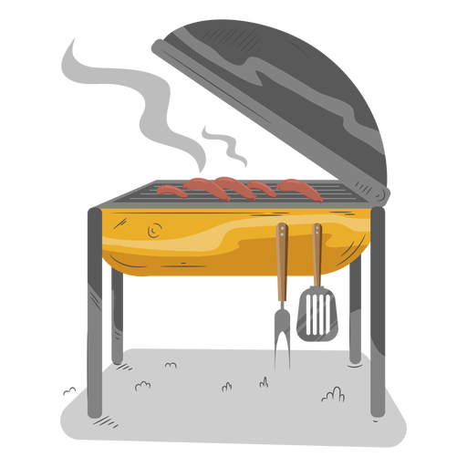 Sausage hot dog bbq grill Transparent PNG