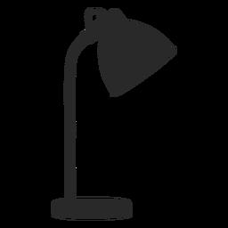 Lámpara de lectura de escritorio simple silueta