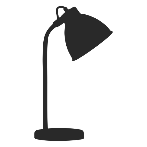 Simple desk reading lamp silhouette Transparent PNG