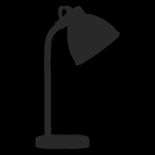 Simple desk reading lamp silhouette