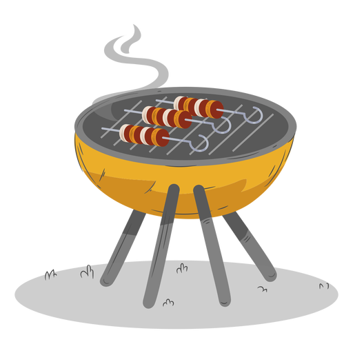 Skewer round bbq grill Transparent PNG