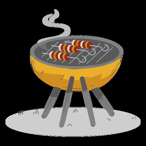 Skewer round bbq grill