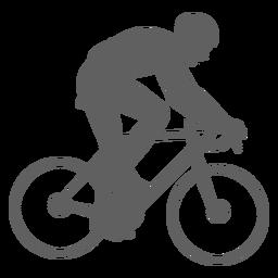 Silueta de ciclista de velocidad