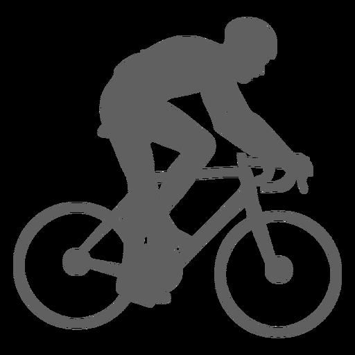 Geschwindigkeit Radfahrer Silhouette