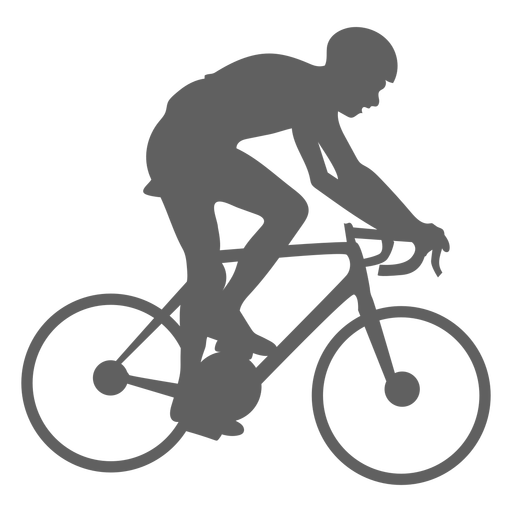 Silhueta de ciclista de velocidade