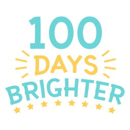 Estrellas 100 días más brillantes letras de la escuela.