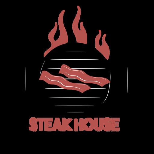 Logo de parrilla de barbacoa Transparent PNG